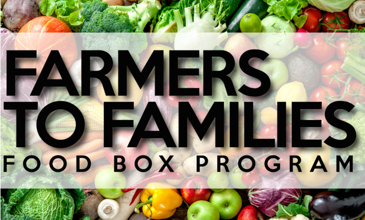 Pick Up Farmers to Families Food Boxes on Fri.