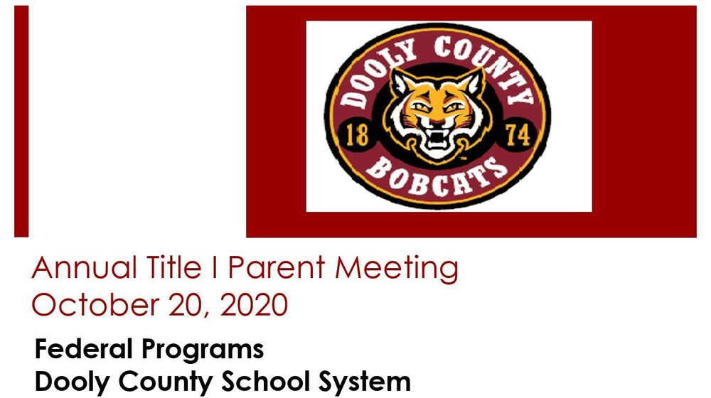 Replay of DCSS Annual Title 1 Parent Meeting